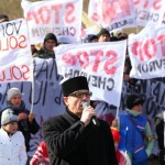 Protestatari impotriva gazelor de sist la Pungesti