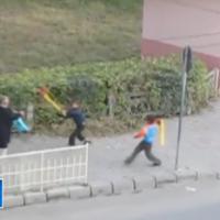 Batran lovit in plina strada la Medias de cativa copii