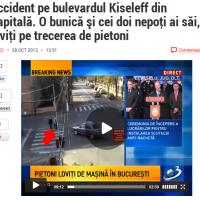 Accident pe bulevardul Kiseleff din Capitală